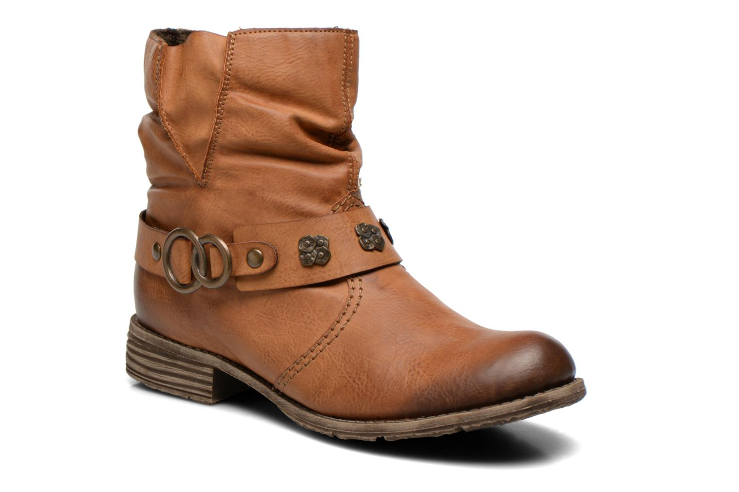 Ankle boots Rieker Myla 74798 Brown detailed view/ Pair view