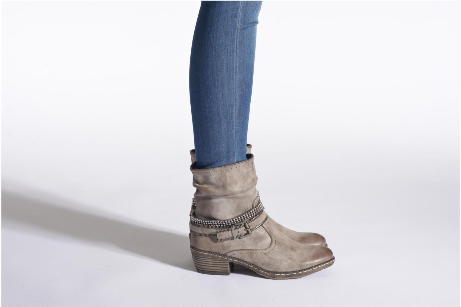 Ankle boots Rieker Kady K1496 Blue view from underneath / model view