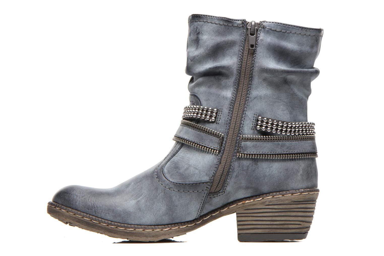 Ankle boots Rieker Kady K1496 Blue front view