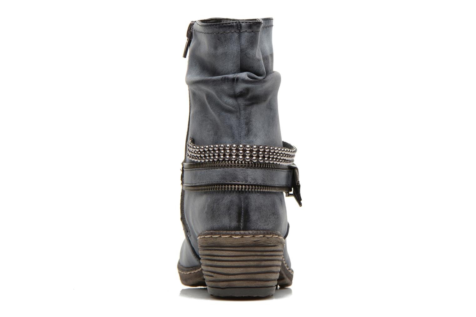 Ankle boots Rieker Kady K1496 Blue view from the right