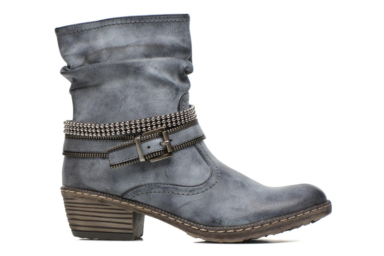 Boots en enkellaarsjes Rieker Kady K1496 Blauw achterkant