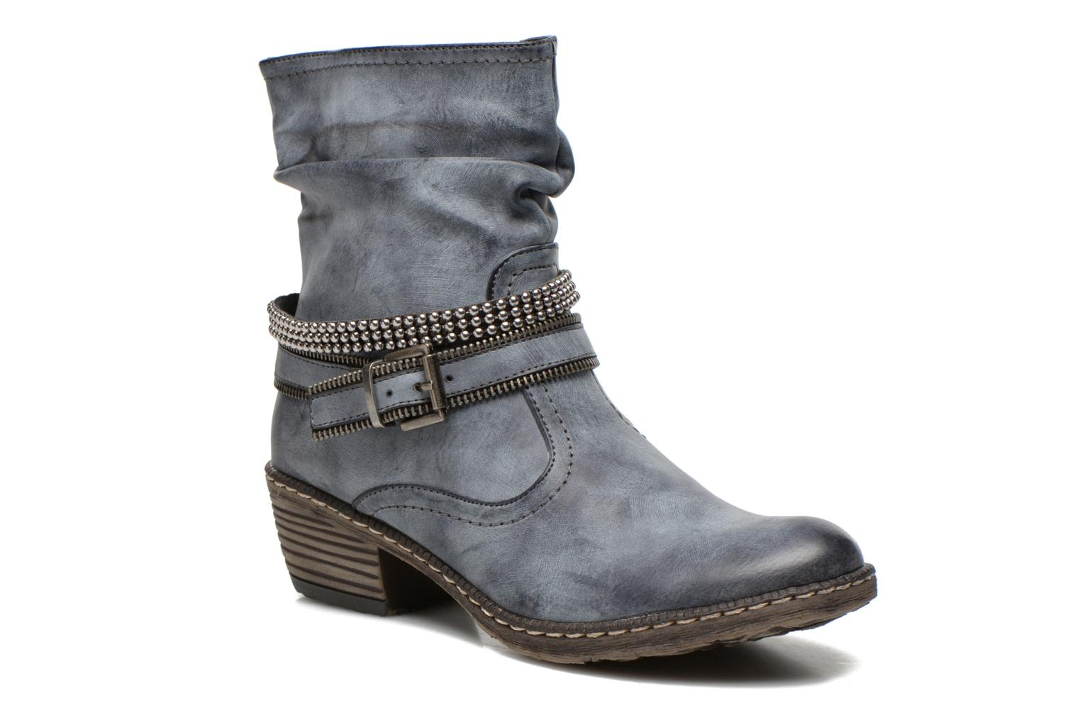 Ankle boots Rieker Kady K1496 Blue detailed view/ Pair view