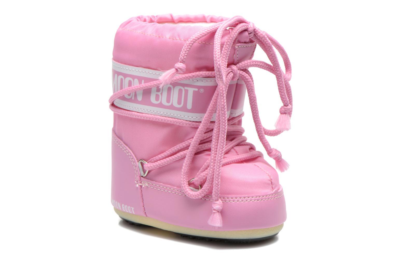 Bottes Moon Boot Moon Boot Mini Nylon Rose vue détail/paire