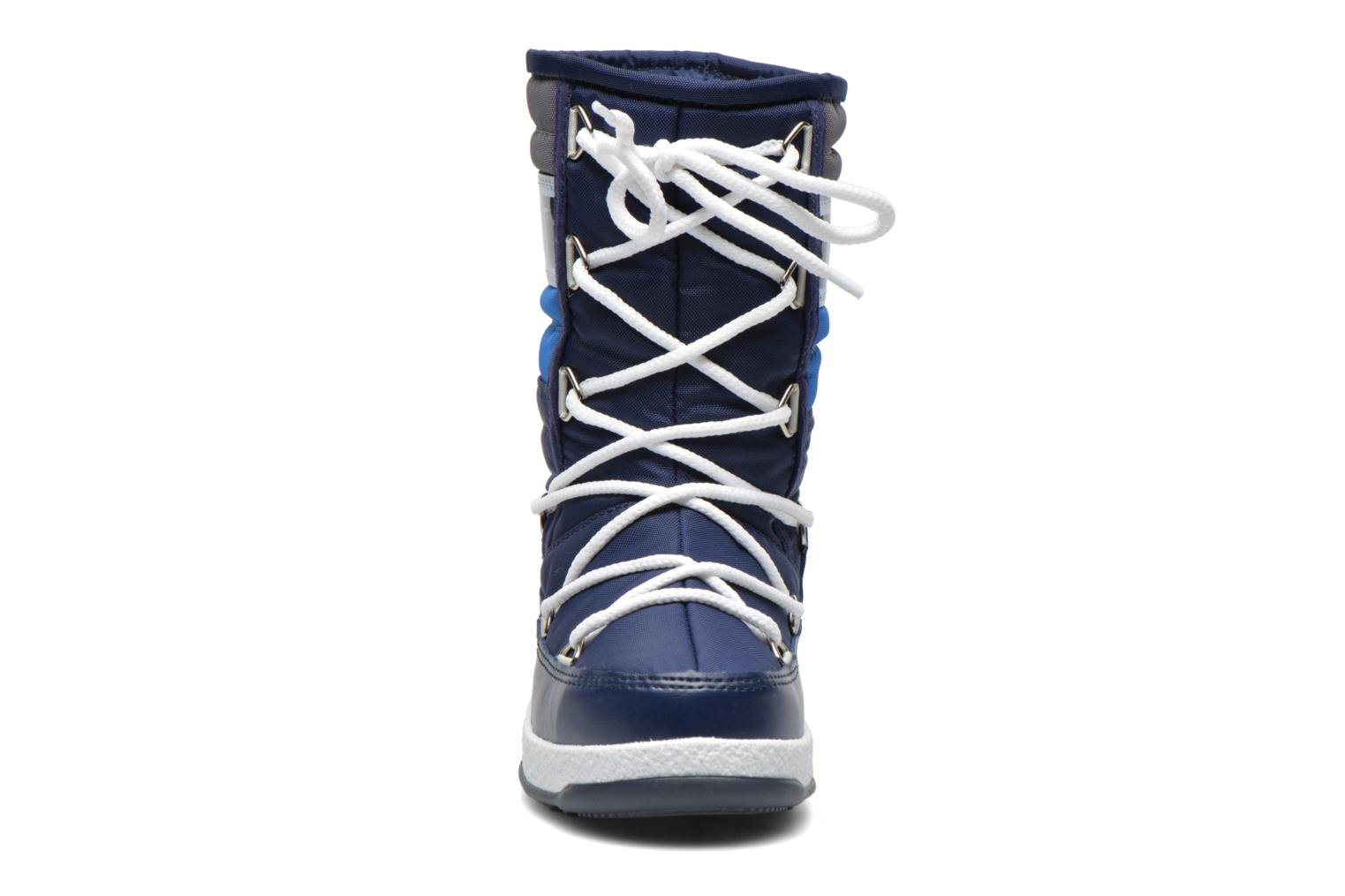 Bottes Moon Boot Moon Boot Quilted Jr Wp Bleu vue portées chaussures