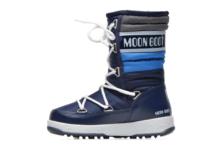 Stiefel Moon Boot Moon Boot Quilted Jr Wp blau ansicht von vorne