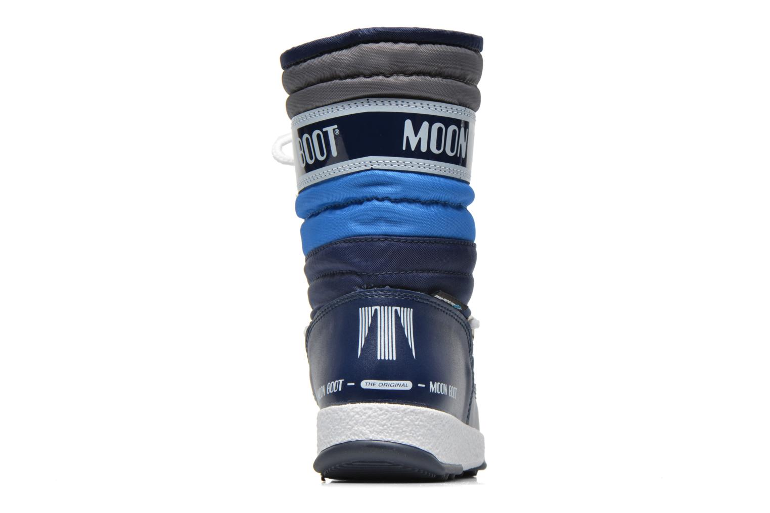 Bottes Moon Boot Moon Boot Quilted Jr Wp Bleu vue droite