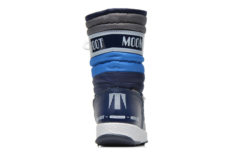Stiefel Moon Boot Moon Boot Quilted Jr Wp blau ansicht von rechts