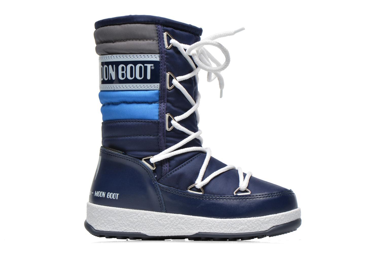 Bottes Moon Boot Moon Boot Quilted Jr Wp Bleu vue derrière