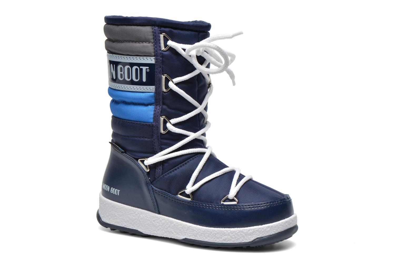 Bottes Moon Boot Moon Boot Quilted Jr Wp Bleu vue détail/paire