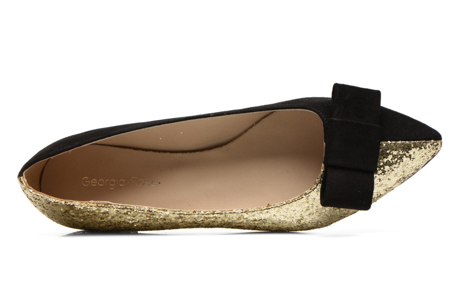 Ballet pumps Georgia Rose Nouba Bronze and Gold view from the left