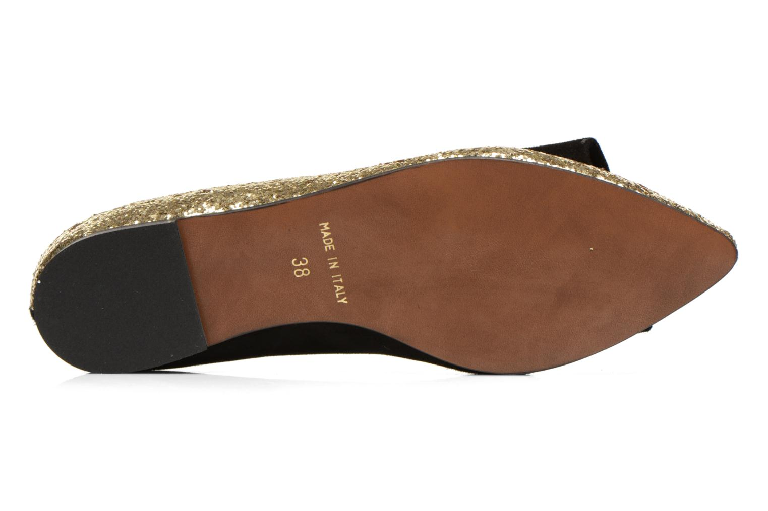 Ballet pumps Georgia Rose Nouba Bronze and Gold view from above