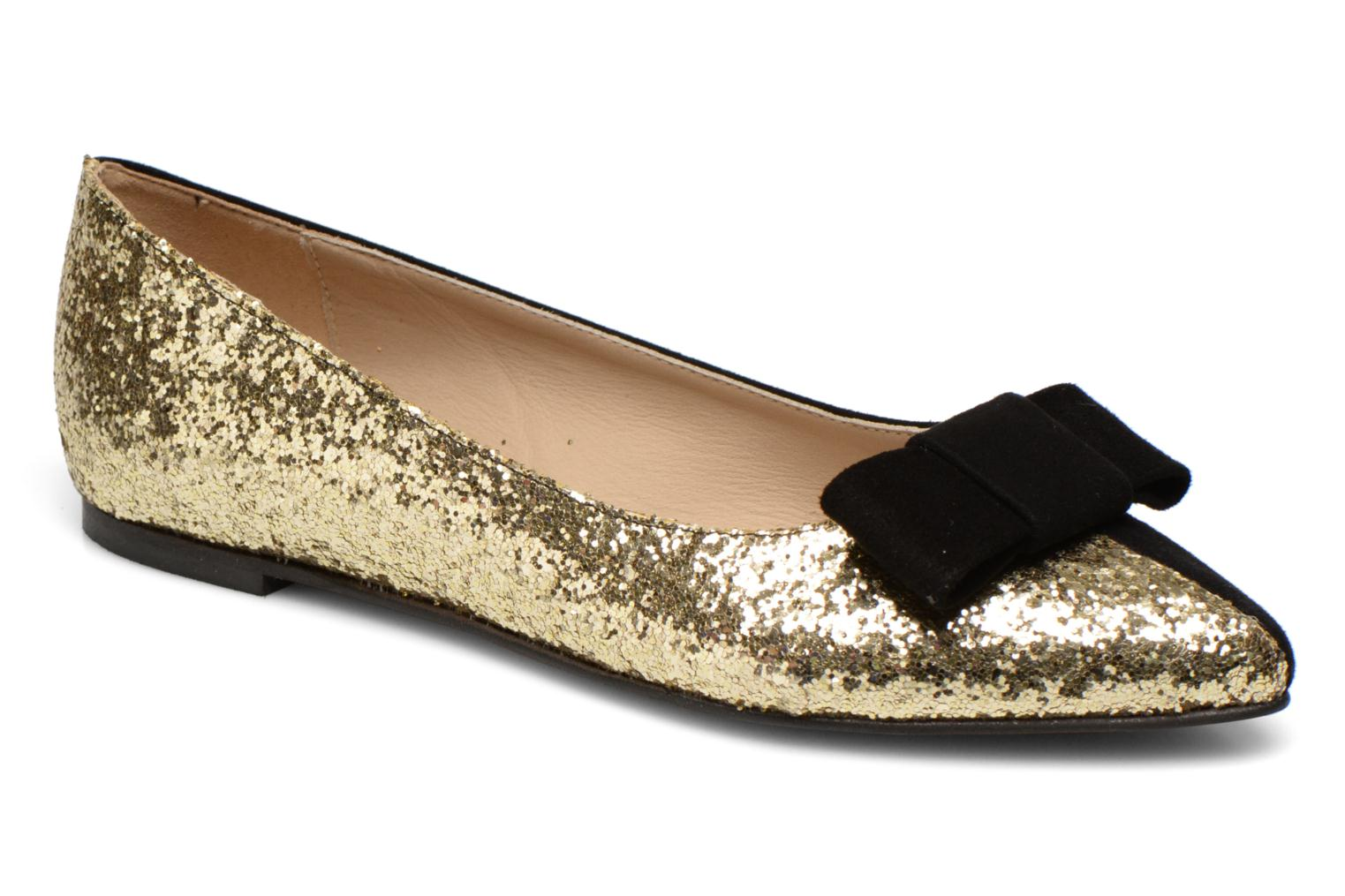 Ballet pumps Georgia Rose Nouba Bronze and Gold detailed view/ Pair view