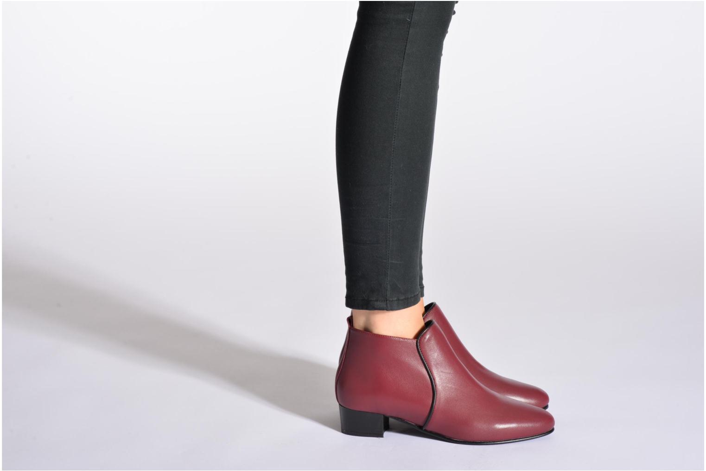 Bottines et boots Georgia Rose Lubiais Bordeaux vue bas / vue portée sac