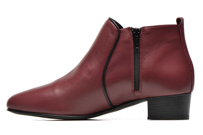 Bottines et boots Georgia Rose Lubiais Bordeaux vue face