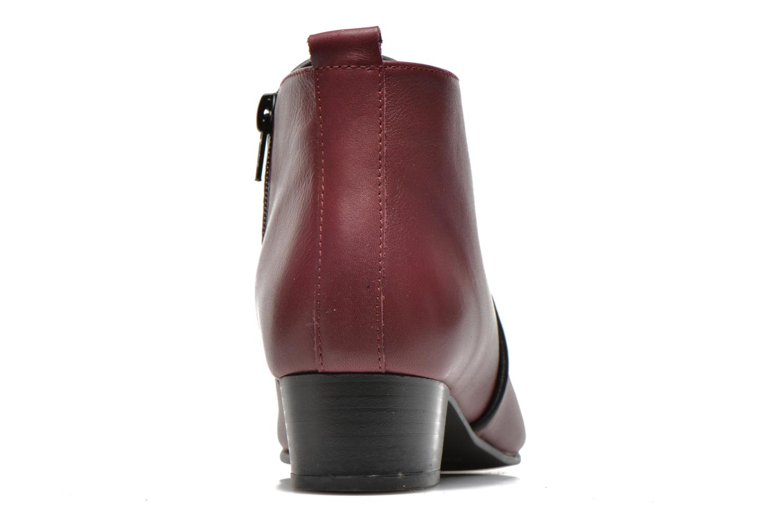 Bottines et boots Georgia Rose Lubiais Bordeaux vue droite