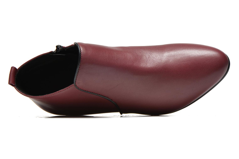 Bottines et boots Georgia Rose Lubiais Bordeaux vue gauche