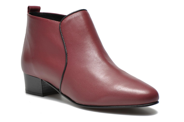 Bottines et boots Georgia Rose Lubiais Bordeaux vue détail/paire