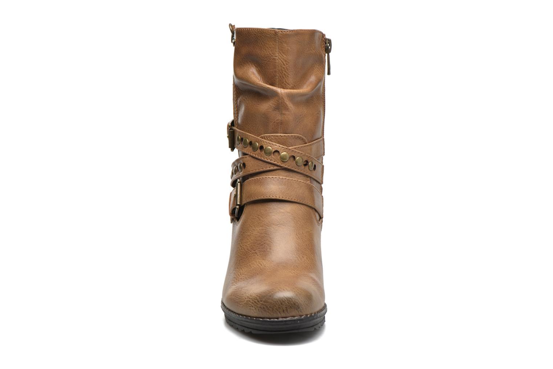 Bottines et boots Tom Tailor Fleur Marron vue portées chaussures