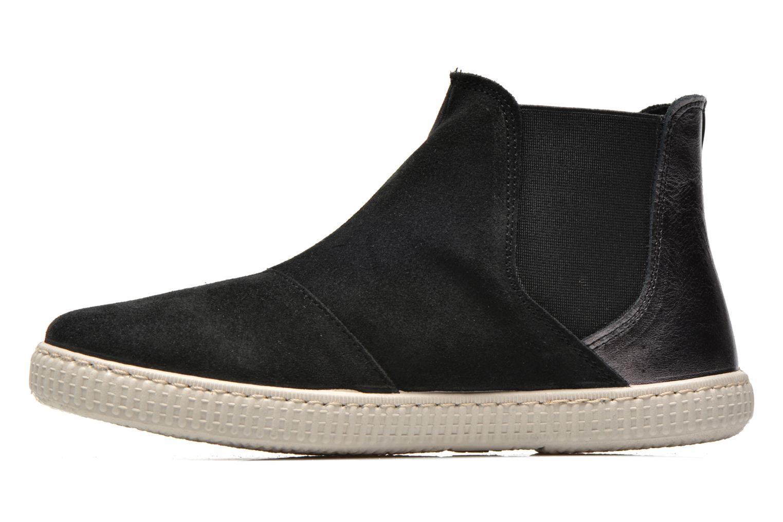Ankle boots Victoria Chelsea Serraje Piel Metaliz Black front view