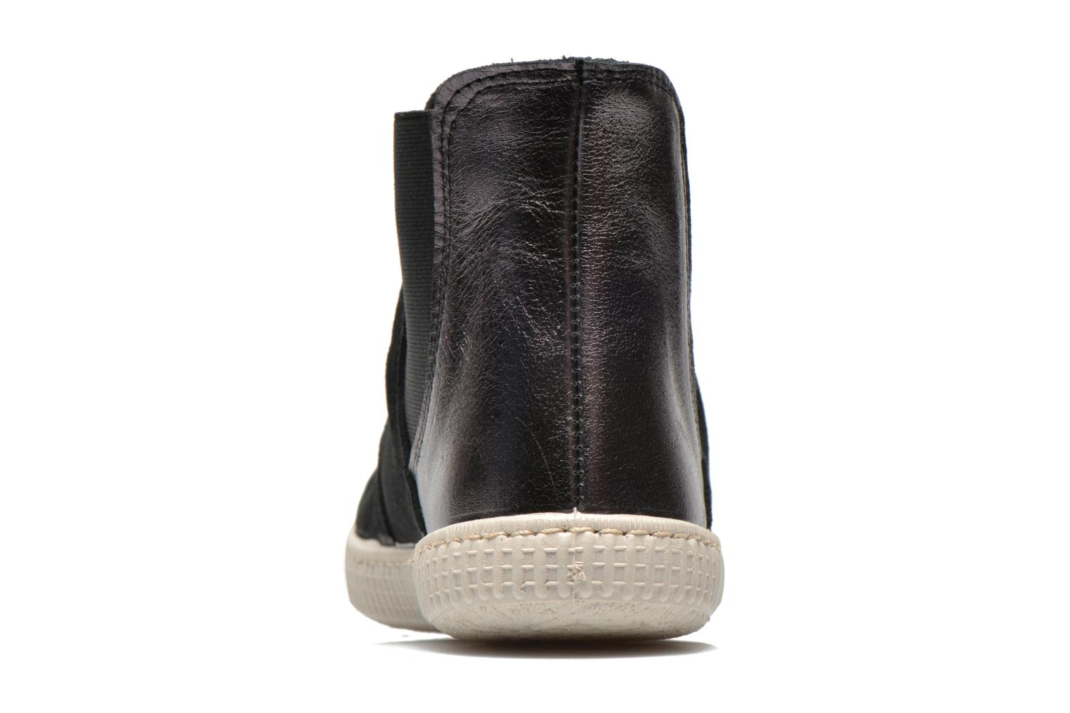 Ankle boots Victoria Chelsea Serraje Piel Metaliz Black view from the right