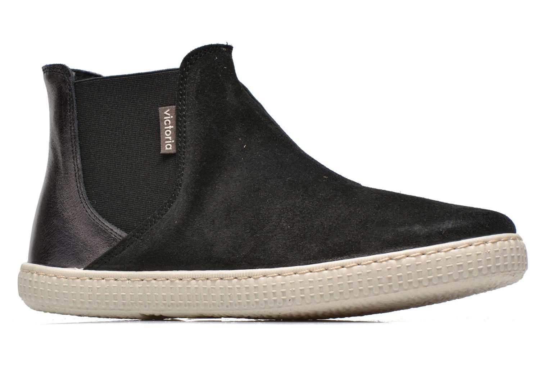 Ankle boots Victoria Chelsea Serraje Piel Metaliz Black back view