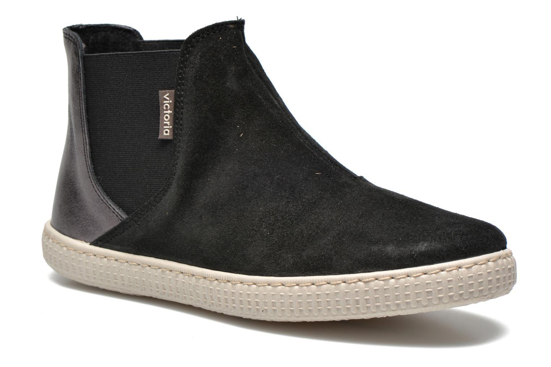 Ankle boots Victoria Chelsea Serraje Piel Metaliz Black detailed view/ Pair view