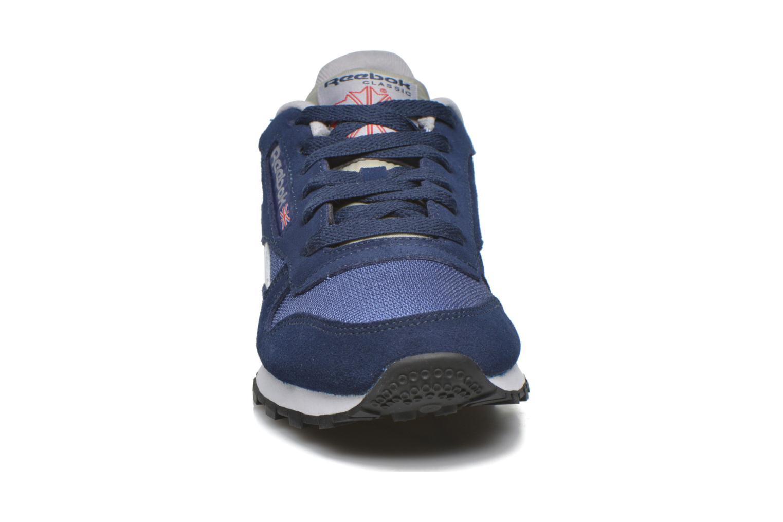 Baskets Reebok Classic Sport Clean Bleu vue portées chaussures