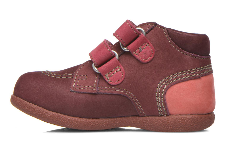 Chaussures à scratch Kickers Babyscratch Bordeaux vue face