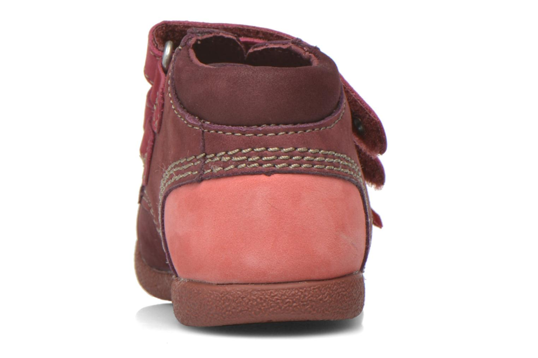 Chaussures à scratch Kickers Babyscratch Bordeaux vue droite