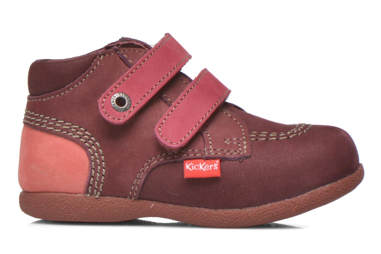 Chaussures à scratch Kickers Babyscratch Bordeaux vue derrière