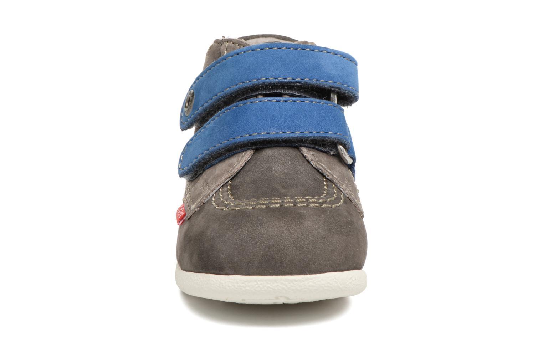 Chaussures à scratch Kickers Babyscratch Gris vue portées chaussures