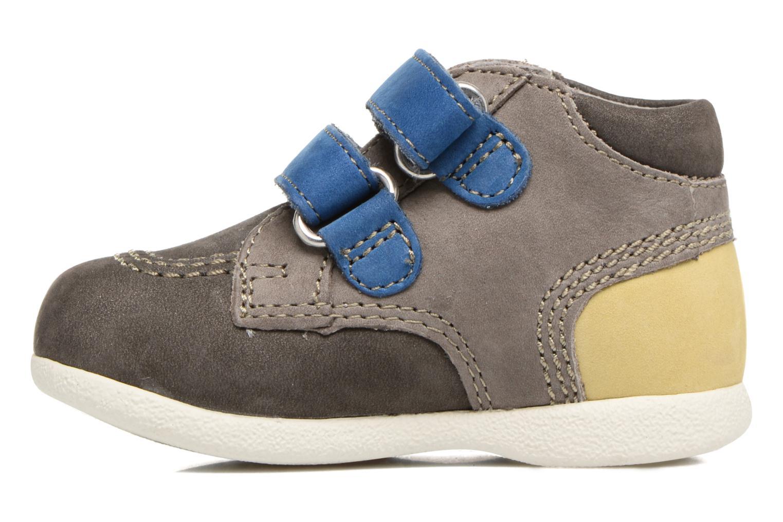 Chaussures à scratch Kickers Babyscratch Gris vue face