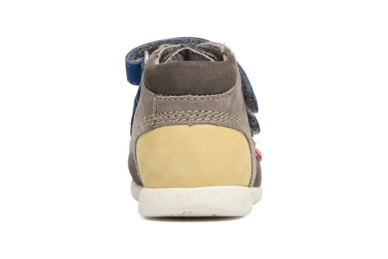 Chaussures à scratch Kickers Babyscratch Gris vue droite