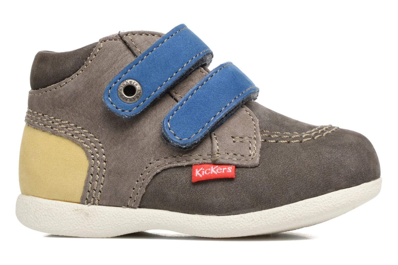 Chaussures à scratch Kickers Babyscratch Gris vue derrière