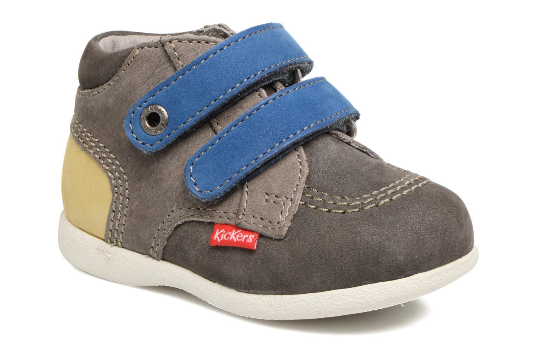 Chaussures à scratch Kickers Babyscratch Gris vue détail/paire