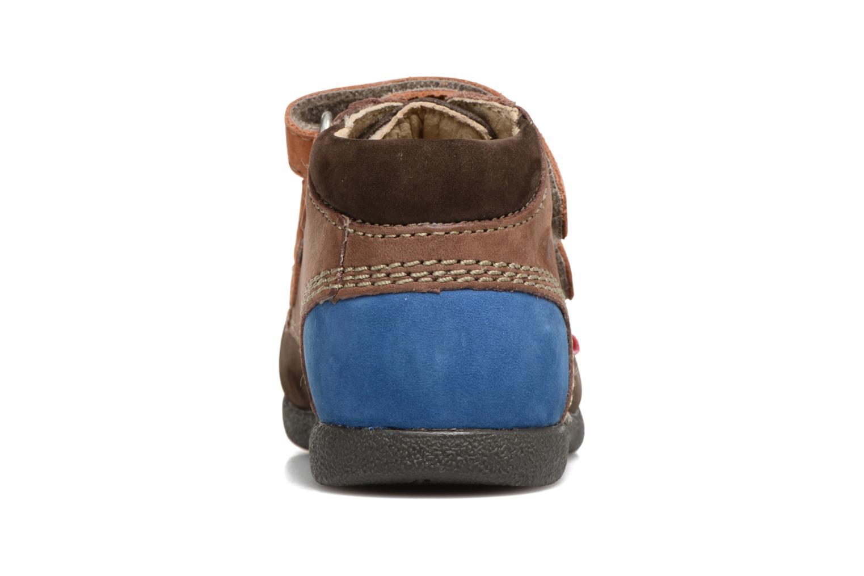 Chaussures à scratch Kickers Babyscratch Marron vue droite