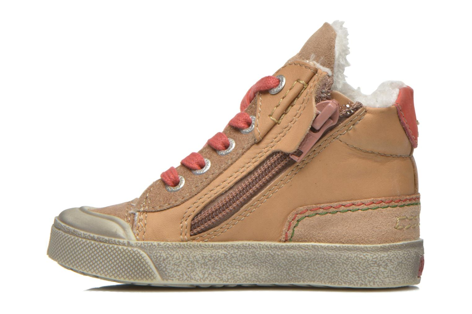 Baskets Kickers Cuzip Beige vue face