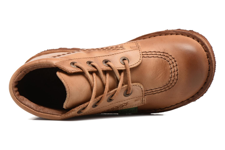 Chaussures à lacets Kickers Neorallye Marron vue gauche