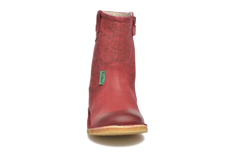 Bottes Kickers Cressona Bordeaux vue portées chaussures