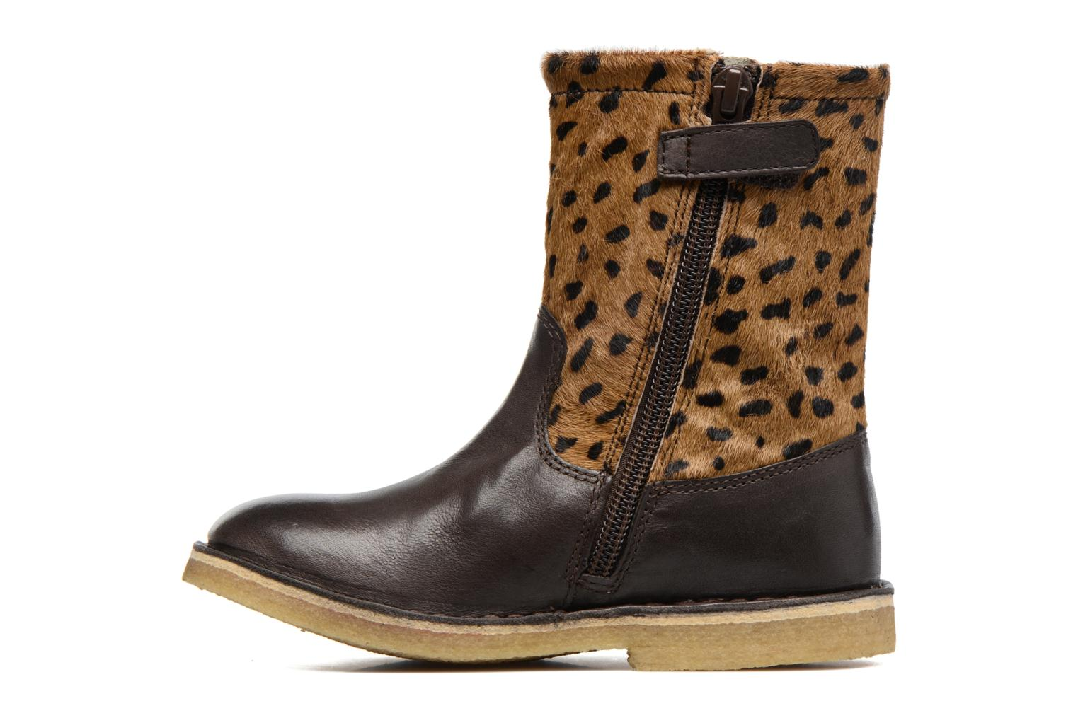 Bottes Kickers Cressona Marron vue face