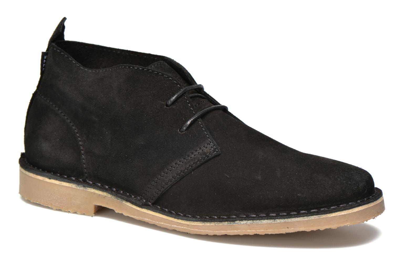 Chaussures à lacets Jack & Jones JJ Gobi Suede Desert Boot Noir vue détail/paire