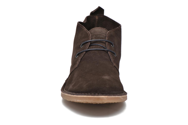 Schnürschuhe Jack & Jones JJ Gobi Suede Desert Boot braun schuhe getragen