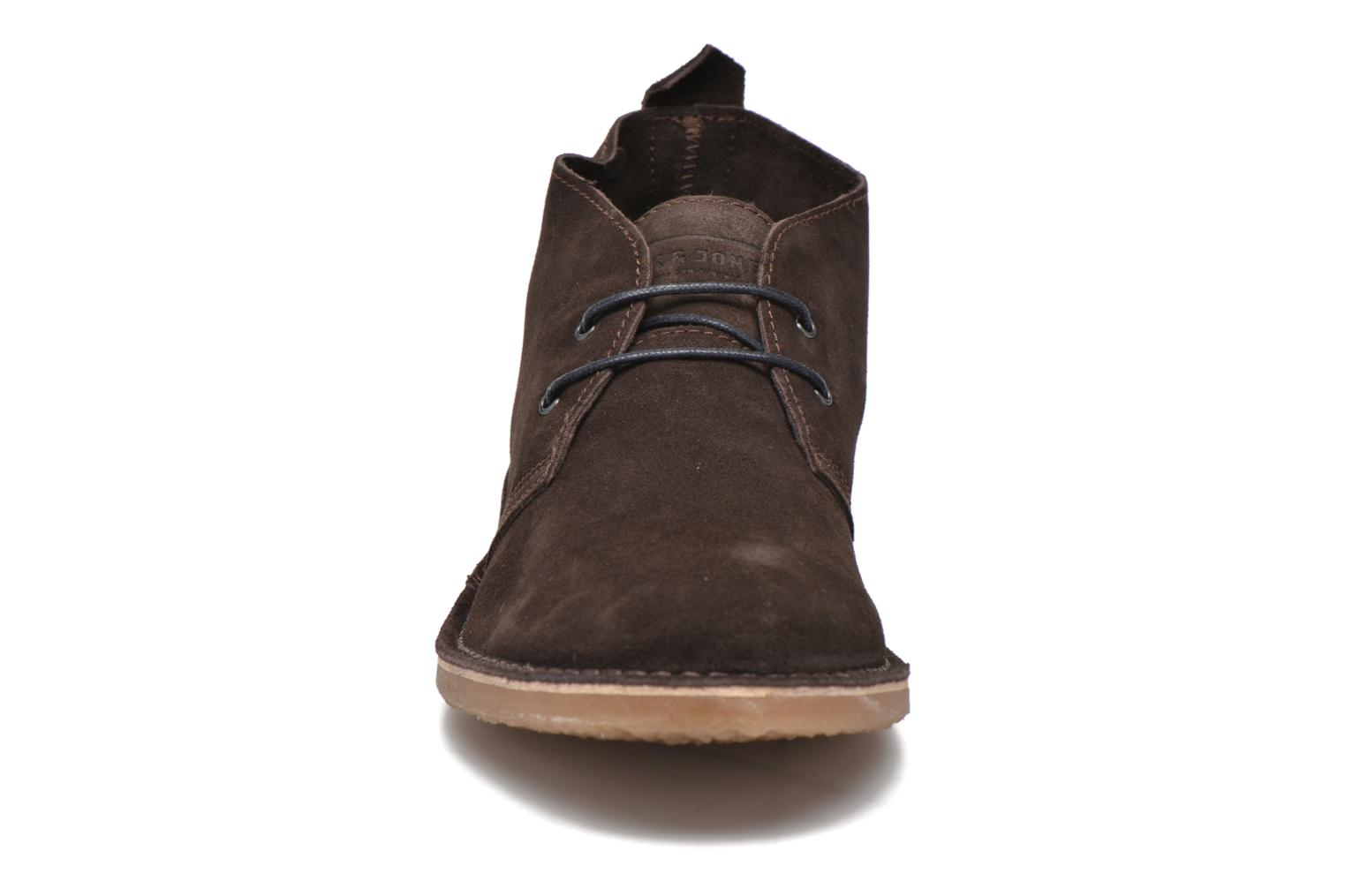 Lace-up shoes Jack & Jones JJ Gobi Suede Desert Boot Brown model view