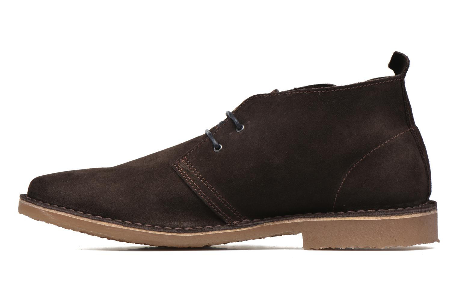 Lace-up shoes Jack & Jones JJ Gobi Suede Desert Boot Brown front view