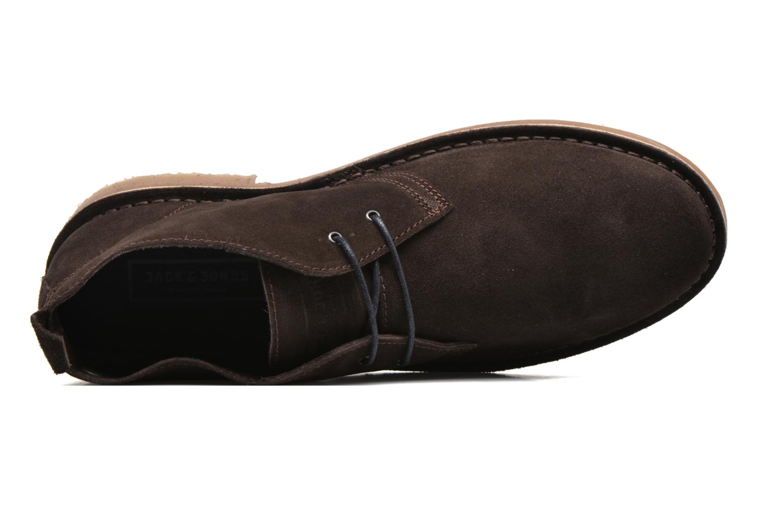Lace-up shoes Jack & Jones JJ Gobi Suede Desert Boot Brown view from the left