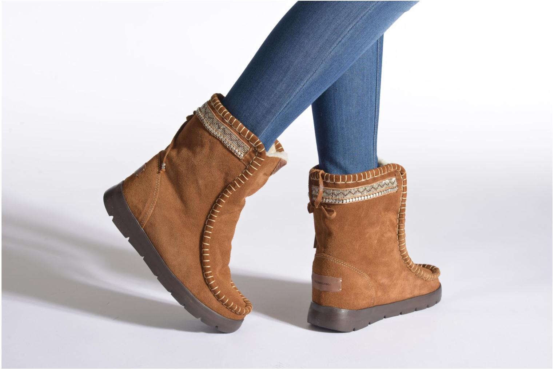 Bottines et boots Laidback London Wadabi Marron vue bas / vue portée sac
