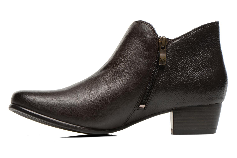 Bottines et boots Caprice Sandrine Marron vue face