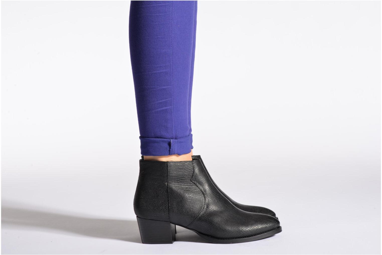 Bottines et boots COSMOPARIS Ermea Pyt Noir Noir vue bas / vue portée sac