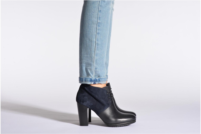 Chaussures à lacets COSMOPARIS Leffi/bi Bleu vue bas / vue portée sac