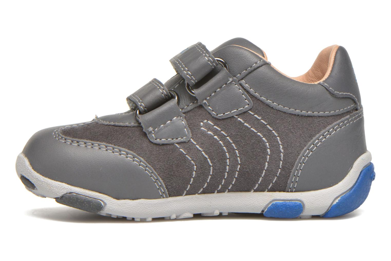 Sneakers Geox B Balu' B. C Grigio immagine frontale